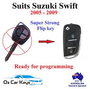 suits SUZUKI SWIFT CAR REMOTE TRANSPONDER FLIP KEY 2005 2006 2007 2008 2009