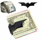 Black Magnetic Folding Batman Movie Matte Money Clip Card Metal Holder Wallet UK