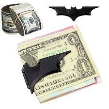 Movie Matte Black Batman Money Clip Magnetic Folding Card Metal Holder Wallet UK