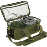 NGT Carp Fishing Green Insulated Brew Kit Bag For Stove Cooking Gas Camping 474