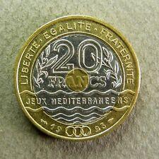 20 FRANCS Jeux Méditerranéens - 1993 - SUP