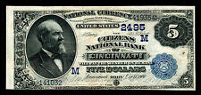 1882 $5  Large Size National Banknotes Cincinnati Ohio