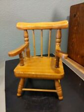 Wood Arm Chair For Doll Or Plush Toy Display Prop Stand Play Pose