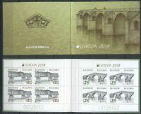 Bulgaria 2018 Europa CEPT, Architecture, Bridges MNH** booklet