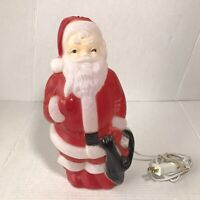 "1968 Empire Santa Claus Plastic Blow Mold Vintage Christmas Light Up 14"" USA"