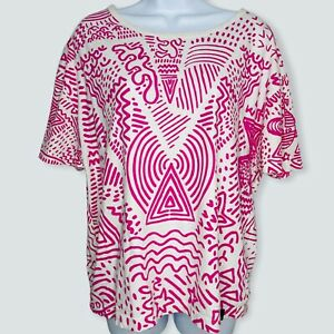 Vivienne Westwood Anglomania Women's Liquor Tee Size Large Pink Protest Print