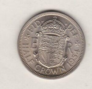 1954 ELIZABETH II HALF CROWN IN NEAR MINT CONDITION