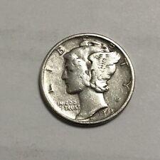 Mid Century US Mint 1943 MERCURY DIME V Fine Silver $.10 Ten Cent Vintage Coin
