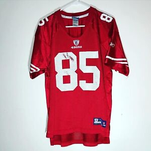 Youth Vtg Reebok San Francisco 49ers Red Jersey Vernon Davis 85 Size XL