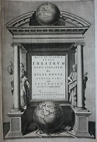 Original BLAEU ATLAS TITLE PAGE, THEATRUM ORBIS TERRARUM, ATLAS NOVUS, 1640