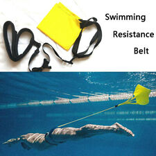 Swimming Resistance Belt Drag Parachute And Tether For Resistance Training