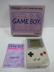 GB -- Game Boy Console Gray -- Box. Game Boy, JAPAN Game Nintendo. .9