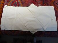 Antique Vintage Linen Bolster Cover 194cm x 47cm