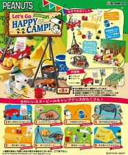 Re-Ment Miniature Peanuts Snoopy Let's Go Happy Camp Full set of 8 pcs