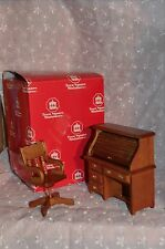 Doll House Wood 2 Pc.  Roll Top Desk with Matching Chair MIB