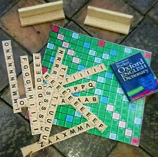 Doll House Miniature - Scrabble board with letters, letter racks and DICTIONARY!