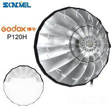 Godox P120H 120cm Parabolic Softbox Reflector for Flash Speedlite Bowens Mount