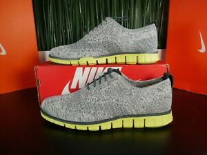 Cole Haan Zerogrand Stitchlite Wingtip Grey Knit/Green C30411 Size 8-13
