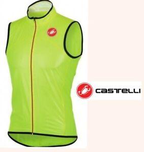 ultralight CASTELLI sottile due cycling wind vest packable waterproof mens xxl