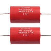 2 PCs Jantzen Audio Cross-Cap 4,1uf 4,10 UF 400vdc MKP 5/% 19x36mm Axial #wp