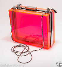 CC Skye The Sunset Boulevard Clutch Bag in Neon Pink