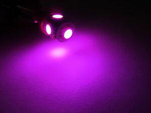 2x PINK LED Bulbs 5-SMD T10 Wedge Dome Map Door Courtesy Step Light Bulbs