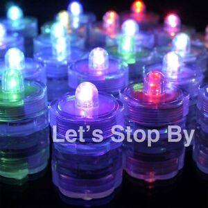 12 Multi Color Change Led SUBMERSIBLE Wedding Waterproof  Floral Decor Tea Light