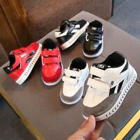 Toddler Kids Boy Girl LED Light Luminous Running Sneakers Up Sport Trainer Shoes