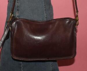 Authentic Vintage COACH BONNIE CASHIN Brown Leather Wristlet Shoulder Purse NYC