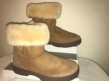 Uggs Australia Women Ultimate Short Brown Suede Classic Boots #F8008G Size 11W