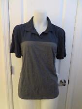 MENS VINCE NAVY BLUE,GRAY SHORT SLEEVE POLO SHIRT SIZE L