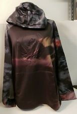 And 1 Black Hoodie Pullover Gray Camo Arms~~Sunfaded~~NWOT~Extra Large