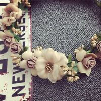 Flower Floral Hairband Headband Crown Party Bride Wedding Hair Wreaths DL5Z