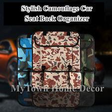 Waterproof Car Seat Back Organiser Storage iPad Pocket Holder Army Camouflage