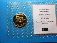 PLAYBOY 1953-2003 GOLDEN 50TH ANNIVERSARY 2003 COOK ISLANDS 999 SILVER COIN RARE