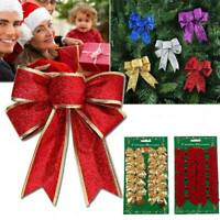 24PCS Bow Christmas Tree Decoration Xmas Ornament Bowknot Party Wedding Decor