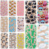 Cute Pattern Soft Silicone TPU Clear Hard Back Case Cover For iPhone X 7 6S Plus