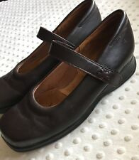 Kumfs Brown Leather One Strap Mary Janes Shoes Approximate Size 10 / 10.5