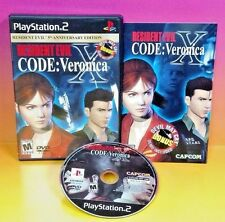 Resident Evil CODE Veronica X - PS2 Playstation 2 Complete Game Rare 5th Ann Ed.