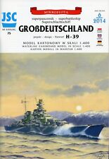 Superbattleship GROSDEUTSCHLAND PREJECT H-39 - Card Model Scale 1/400  JSC 75