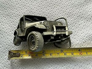 Vintage belt buckle 1978--Bergamot Brass Works--Jeep Belt Buckle #J-39 3D