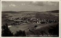 Oberwiesenthal Erzgebirge AK 1938 Panorama Gesamtansicht Dorf Kirche gelaufen