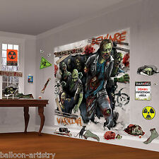 Halloween MEGA Zombie partito Attack Scena Setter Decorazione Muro Kit