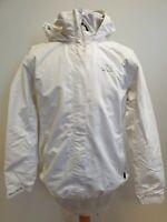 M759 WOMENS HELLY HANSEN WHITE HOODED LIGHTWEIGHT JACKET UK L 12