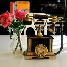 RARE VINTAGE PHONE TELCER TELEFONIA ITALY MADE 18K GOLD PLATED WORKING