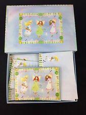 New listing Vintage Gardening Angels Stationery Box Writing Paper Keepsake Jenifer Schneider