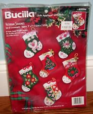 Bucilla VICTORIAN STOCKINGS ORNAMENTS  Kit #83506  NEW/SEALED
