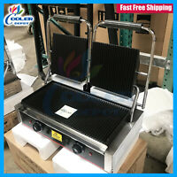 Panini Press Double Griddle Sandwich Grill Commercial Restaurant Cafe 110V NEW