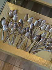 Collection Of 35 Vintage President Silver Plated Spoons by Wm Rogers Co. (Is)