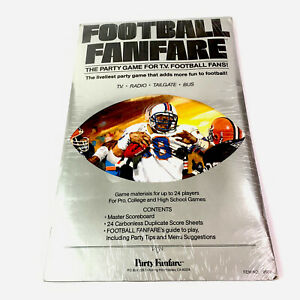 1987 FOOTBALL FANFARE: THE PARTY GAME FOR T.V. FANTASY FOOTBALL FANS